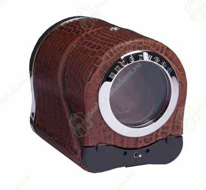 UN883 Модуль на одни часы, кожаный с металлическим окном.