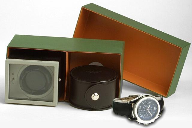 Underwood UN-403 Комплект: часы механические-автомат на кожаном ремне, в кожаном футляре + модуль на одни часы кожаный