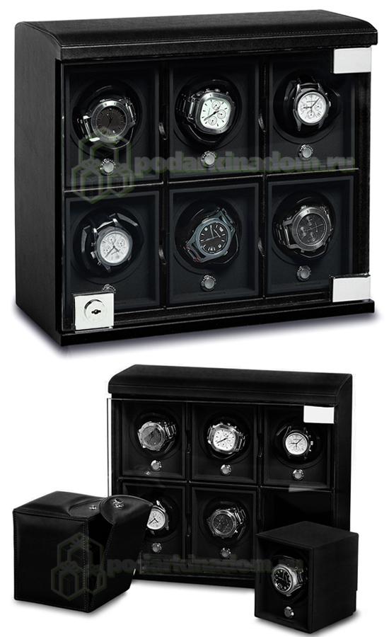 Underwood UN-814-Black Шкатулка для часов с подзаводом + дорожный футляр