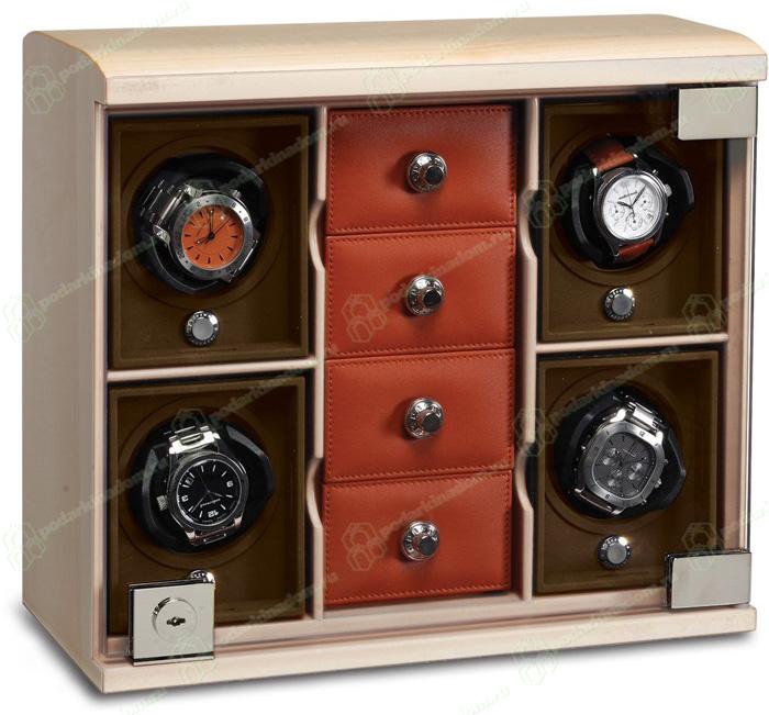 Underwood UN-2709 Модульная cистема подзавода для четырех часов с четырьмя отделениями для ювелирных изделий