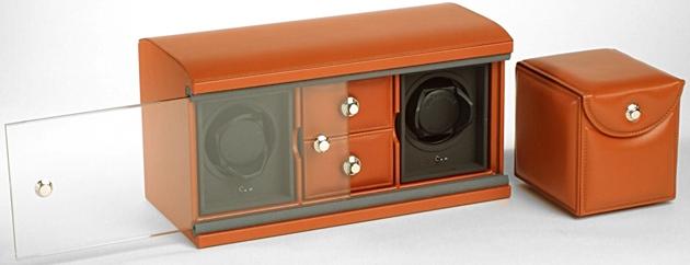 Underwood UN-840 Модуль на двое часов с двумя отделениями для ювелирных изделий + футляр