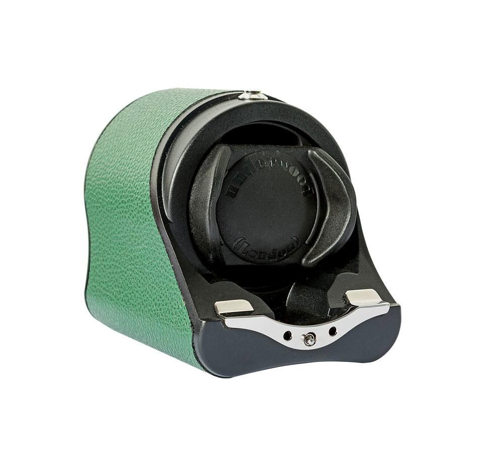 Underwood UN-880 Green Бокс для завода одних наручных часов с автоподзаводом. Отделка кожа.