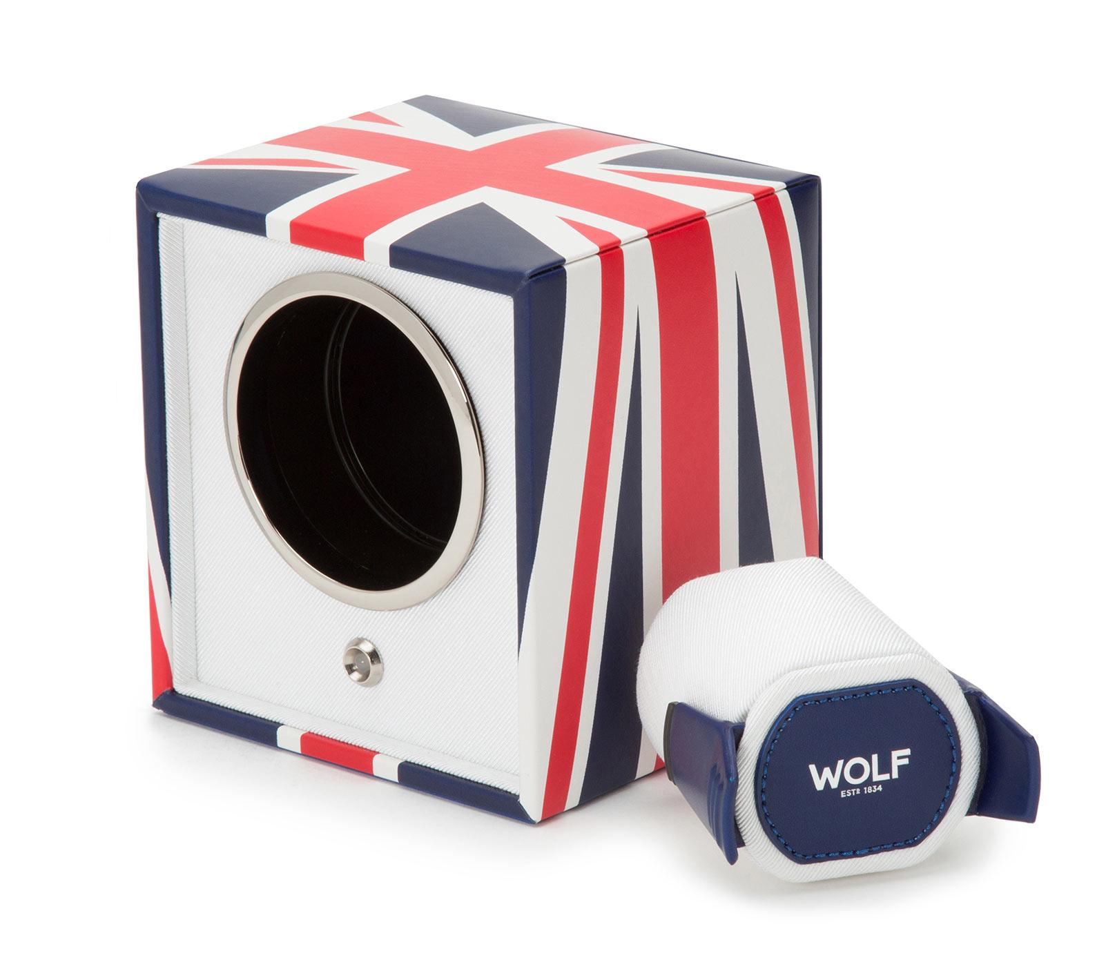 WOLF 462404 Шкатулка для автоподзавода часов  из коллекции Navigator сочетает в себе практичность экокожи и лимитированный дизайн