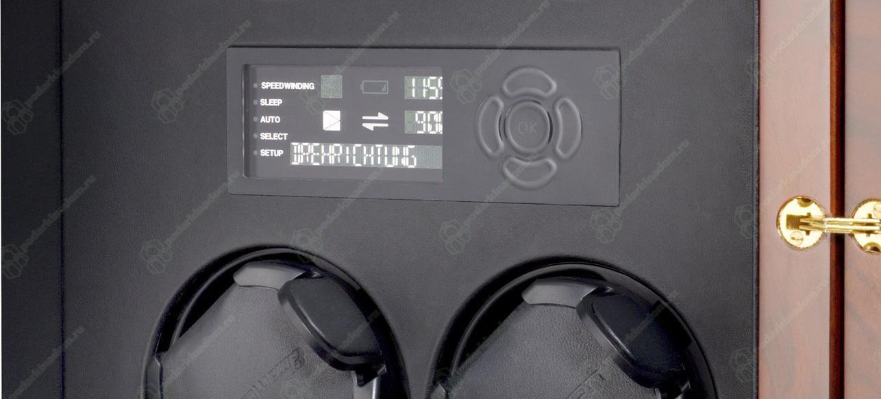 Сorona 2 burlwood / glass doors Шкатулка Elma Corona 2 LCD. Обновленная модель столь популярной шкатулки для часов. Шкатулка создана для подзавода часов, в механизме, управлении и дизайне, учтены все нюансы, что бы ваши часы, не нуждались в сервисе и прослужили вам гораздо дольше