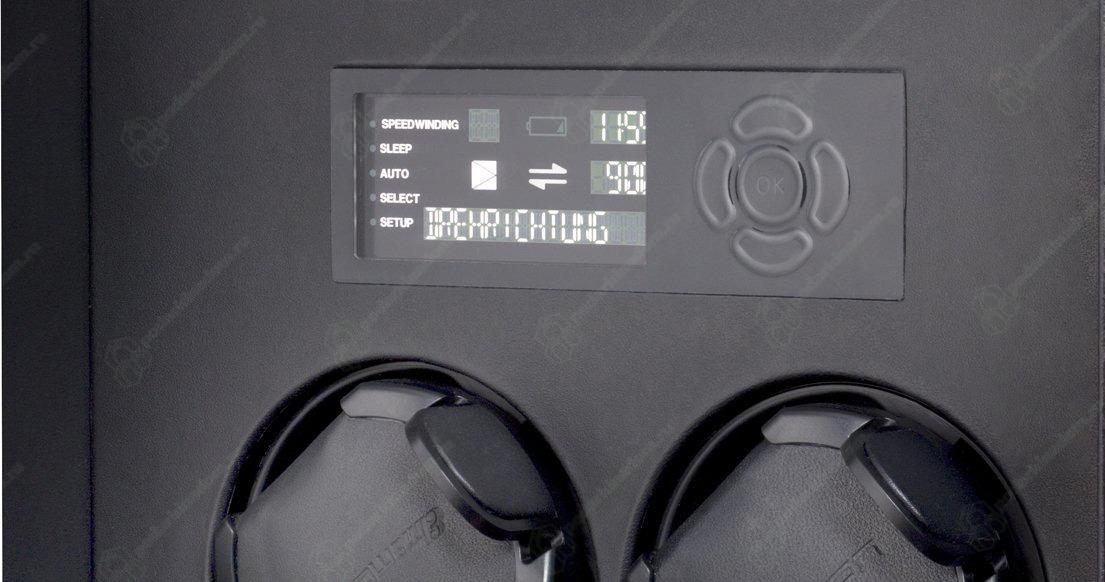 Corona 4 Version piano / glass doors Шкатулка для 4 часов с автоподзаводом Elma Corona 4 черный лак